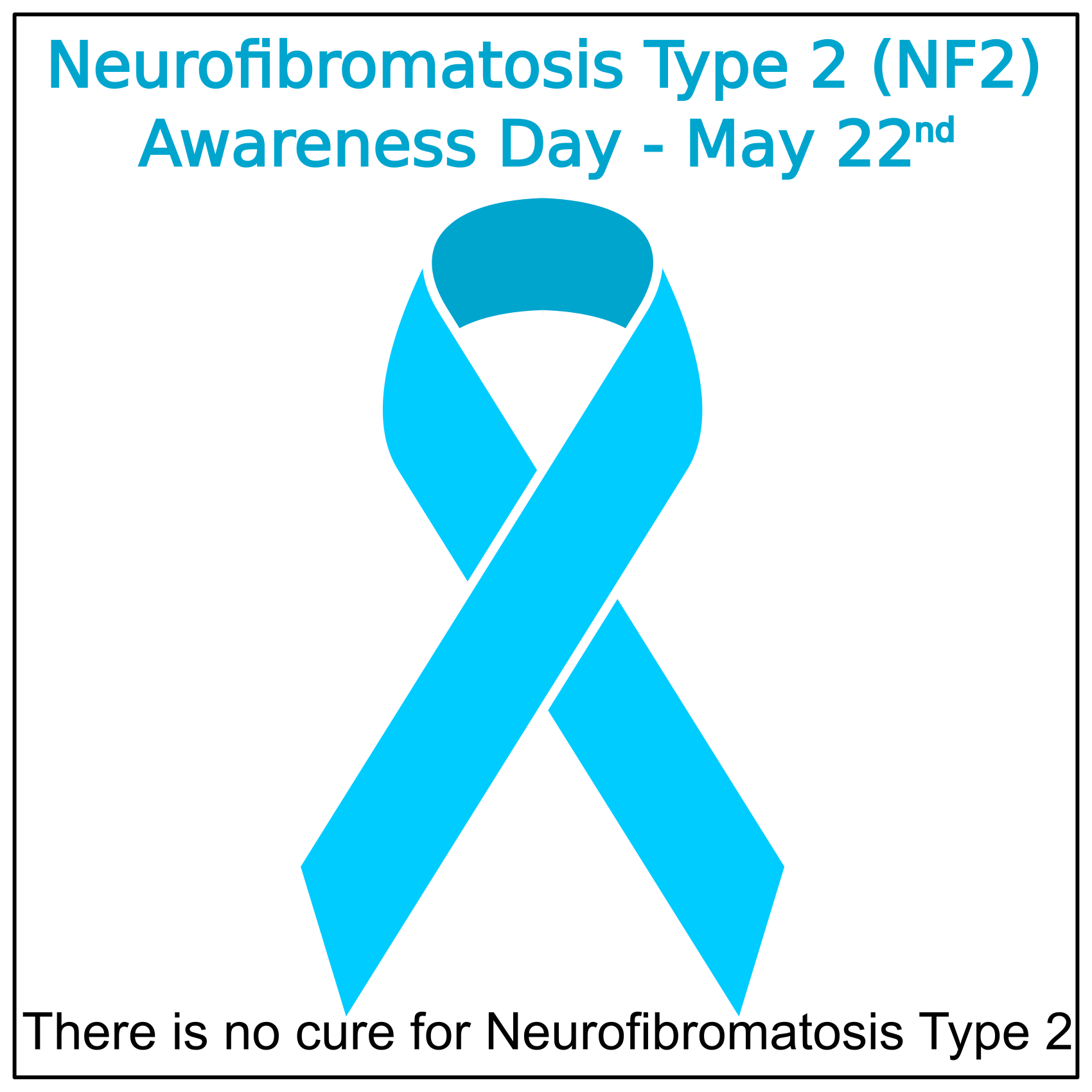 NF2 Day, ribbon, No Cure